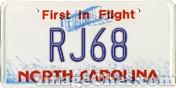 Custom North Carolina License Plate - 1 by RJLightning68