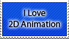 I Love 2D Animation Stamp