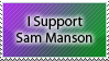 I Support Sam Manson Stamp by DP-Stamps