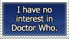Dr. Who No Interest Stamp by DP-Stamps