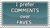 Comments Over Faves