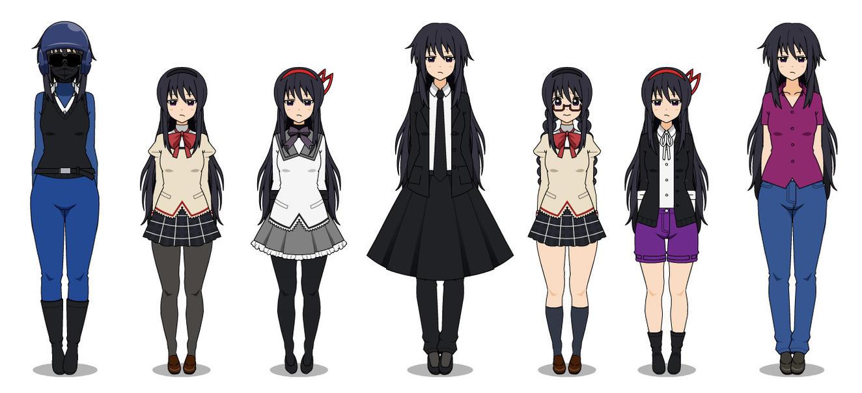 Kisekae Homura Akemi Pack By Kamiyabloodvegeance On Deviantart