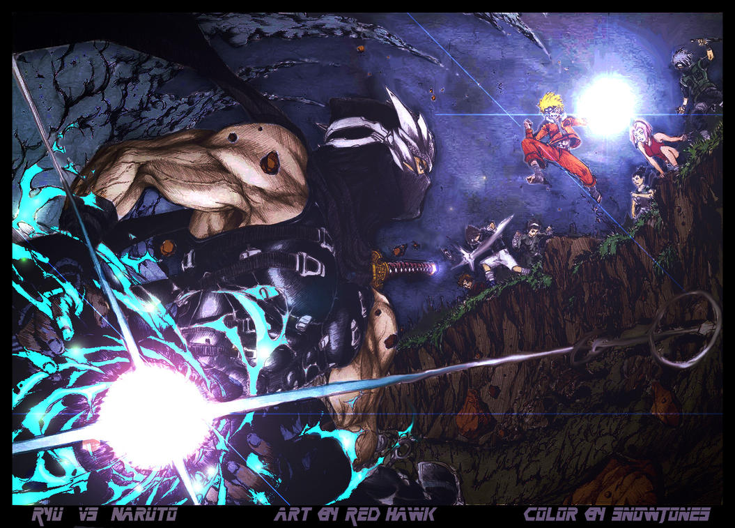 Ryu Hayabusa Vs. Team Naruto By SnowJones On DeviantArt