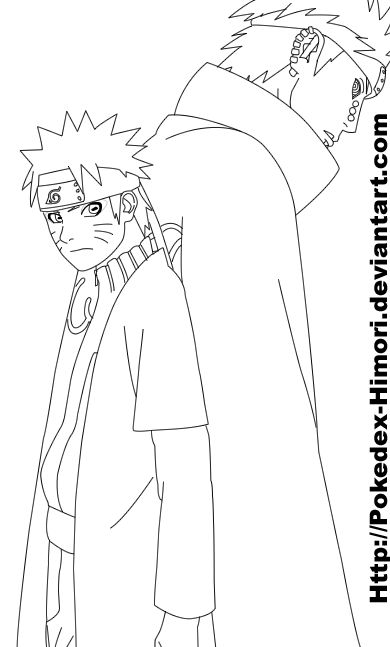 Naruto And Pain 435 Lineart By Icaro382 On Deviantart
