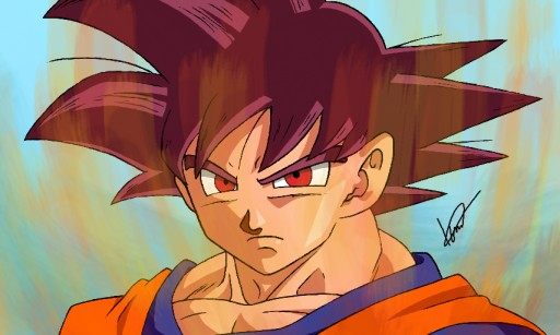 The Super Saiyan God Goku By Icaro382 On Deviantart