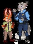 Sly Bunny, Dumb Fox (commission)