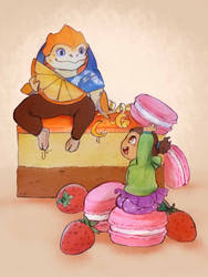 Sour Orange and Sweet Macarons