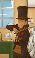 PL: Violin Practice by ozamham