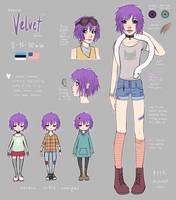 Velvet + Efyra reference sheet by pypr