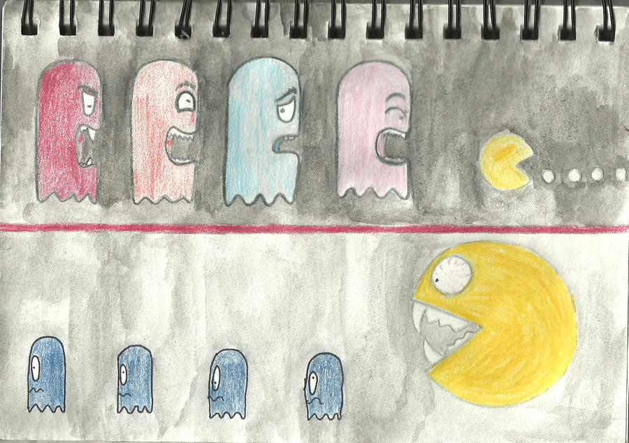 The law of pacman by XGhostflowersX