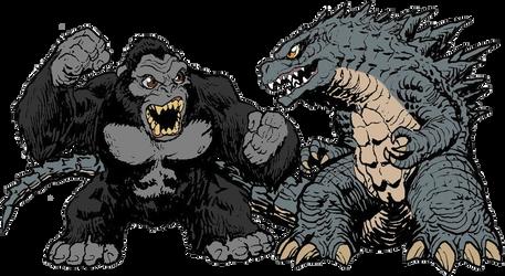 Matt Frank's King Kong vs. Godzilla 2020 colored by PedroAugusto14