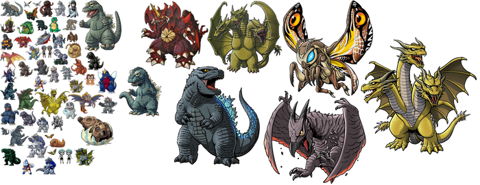 SD Godzilla and Monsters (Download it)