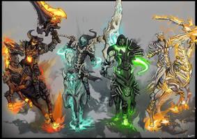 The Four Horsemen by Inbunche