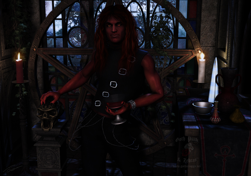 Alchemy With The Devil Gothic Fantasy Art by GothicToggs