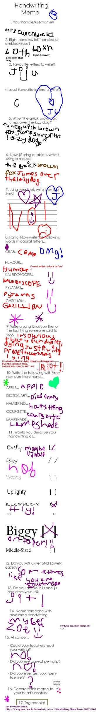 Handwriting MeMe by mrscullenblack1