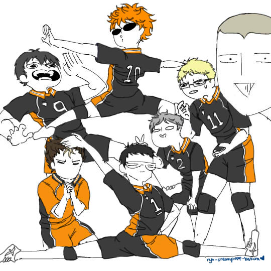 Karasuno... FIGHT!! by ritsukuze