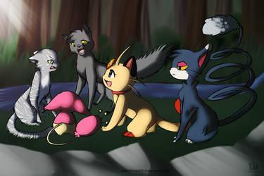 Warriors meets Catty Pokemon by hikari2314