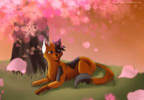 Underneath the Blossom Tree by hikari2314