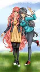 Maya et Alize by LuvariaDrawing