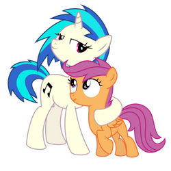 Vinyl Scratch and Scootaloo