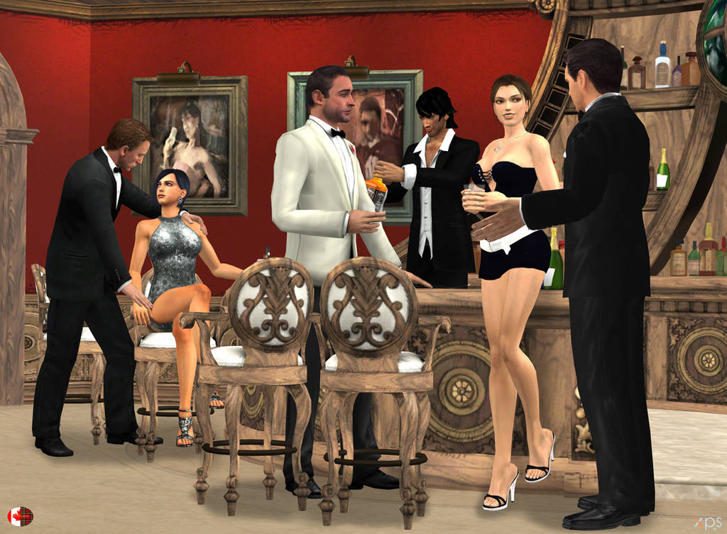 140909_Lara_and_three_James_Bond_V2 by McGaston