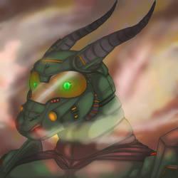 Doom armor dragon by RoboUshi