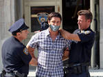 Gerard Butler arrested and gagged 3