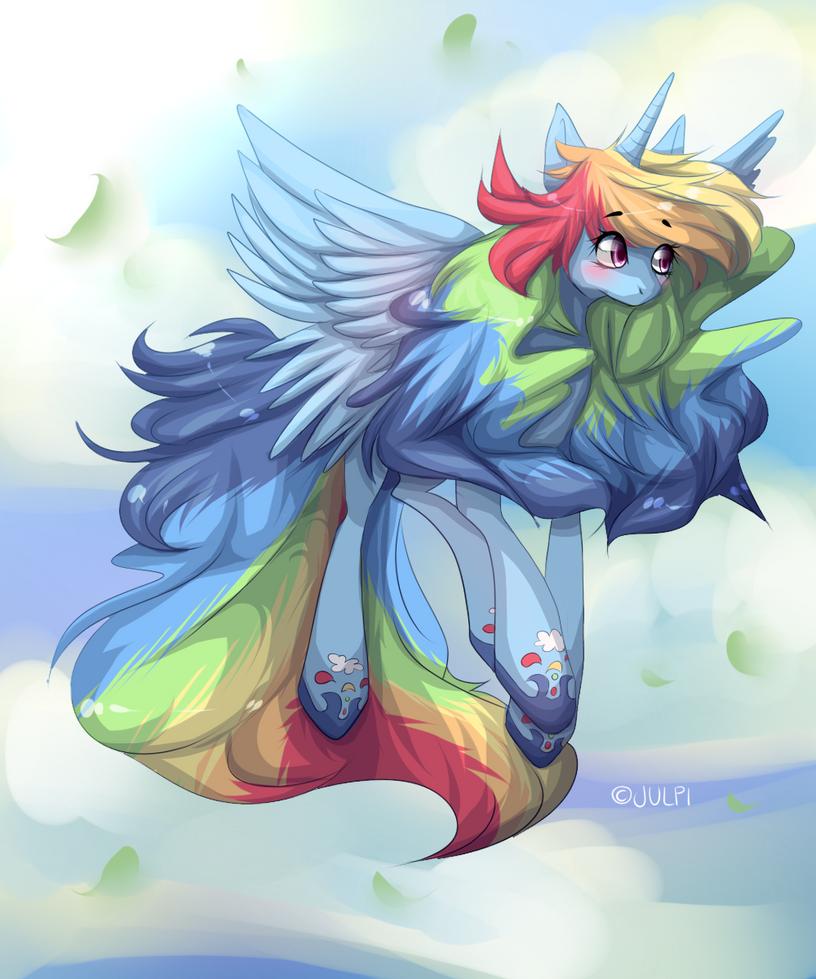 Alicorn Rainbow Dash by JupecatMlp Alicorn Rainbow Dash