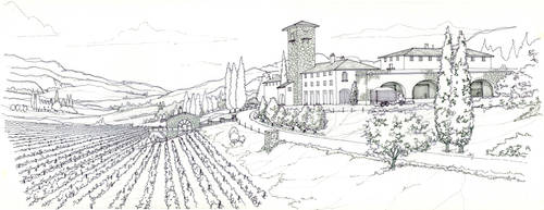 Winery sketch by Manu05