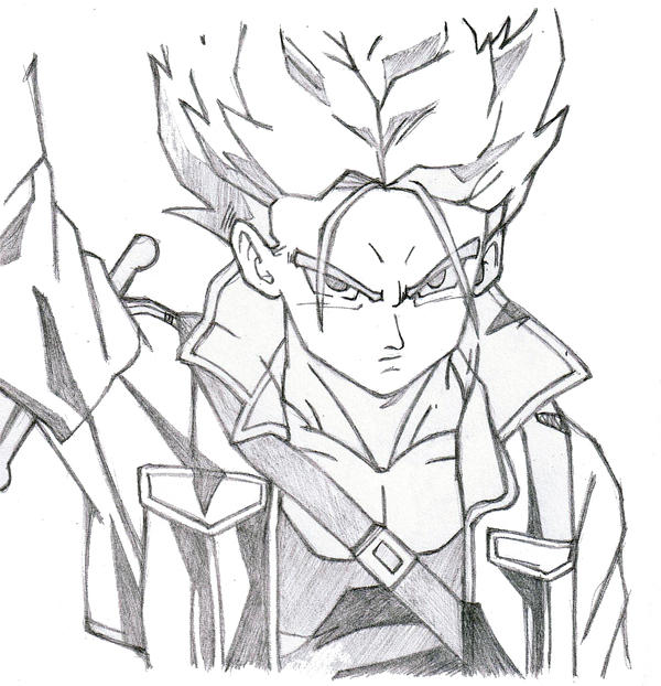 Dragon Ball Z Trunks Drawings on s blast cartoon