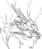 Sketch#303 Thundervolt by ReiyuuSama