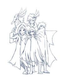 Sketch#327 Shadow Servant (Black Rose) by ReiyuuSama