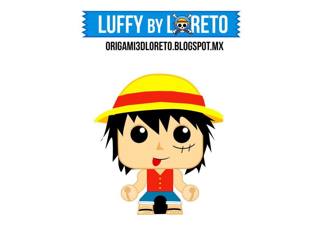 Luffy minipapercraft by kiri-chan1990