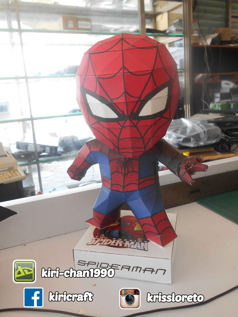 spiderman papercraft by kiri-chan1990