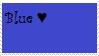 Blue Love Stamp by KTEnsley