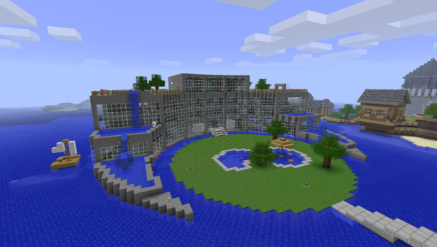 Aquatica hotel minecraft by nyl000 on deviantart for Tuto maison moderne minecraft xbox 360