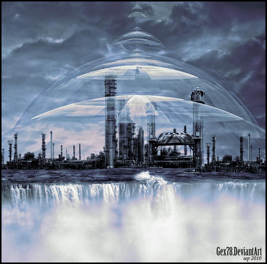 Sci fi city by Gex78