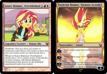 MLP Magic - Sunset Shimmer/Daydream Shimmer by CountDerpy