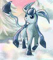 glaseon on snow by Chibi-C