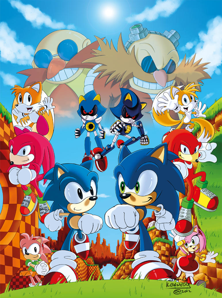 Sonic 20th: Generations Apart [Print Available] by DarkNoise-Studios