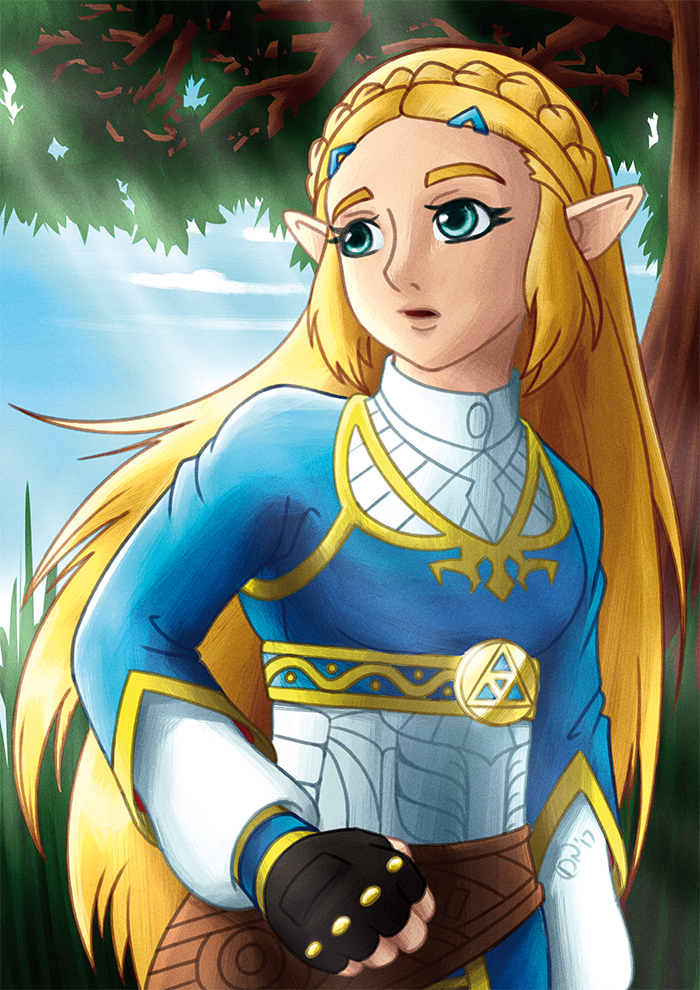 Zelda Breath Of The Wild Princess Zelda By Darknoise