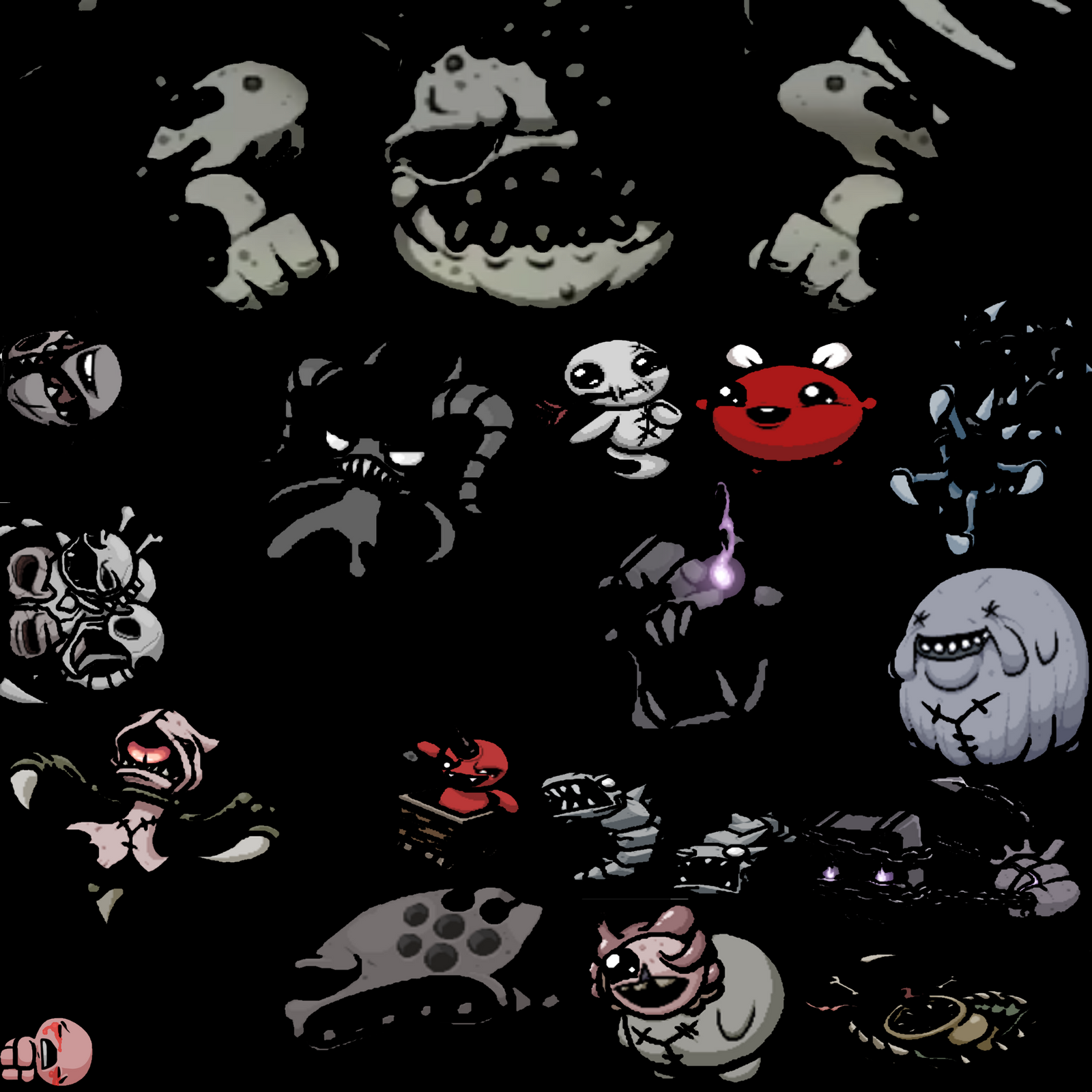 The Binding Of Isaac Antibirth Bosses By SpaceRaptors On