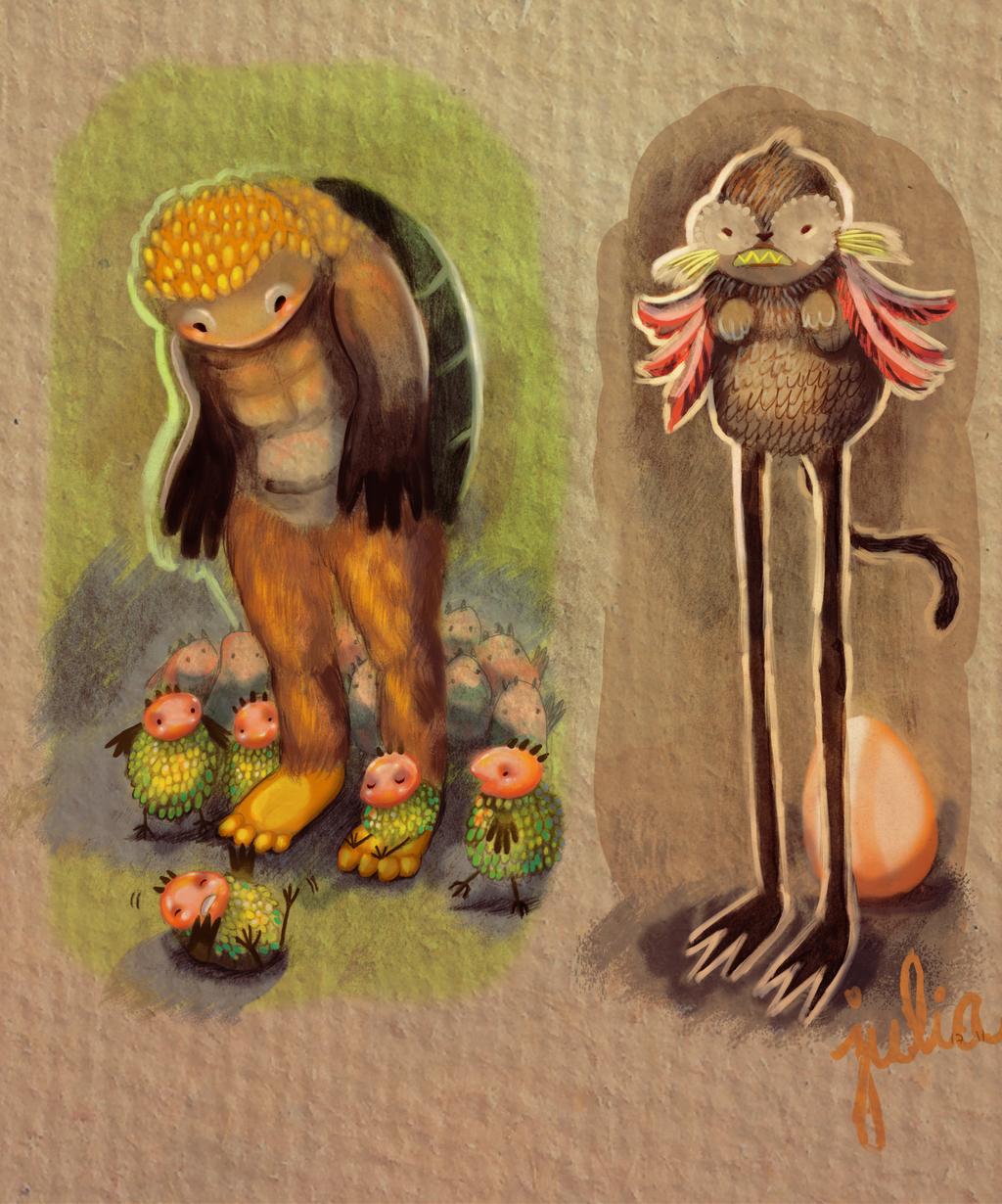 Sketchbook creatures by vastarantakettu