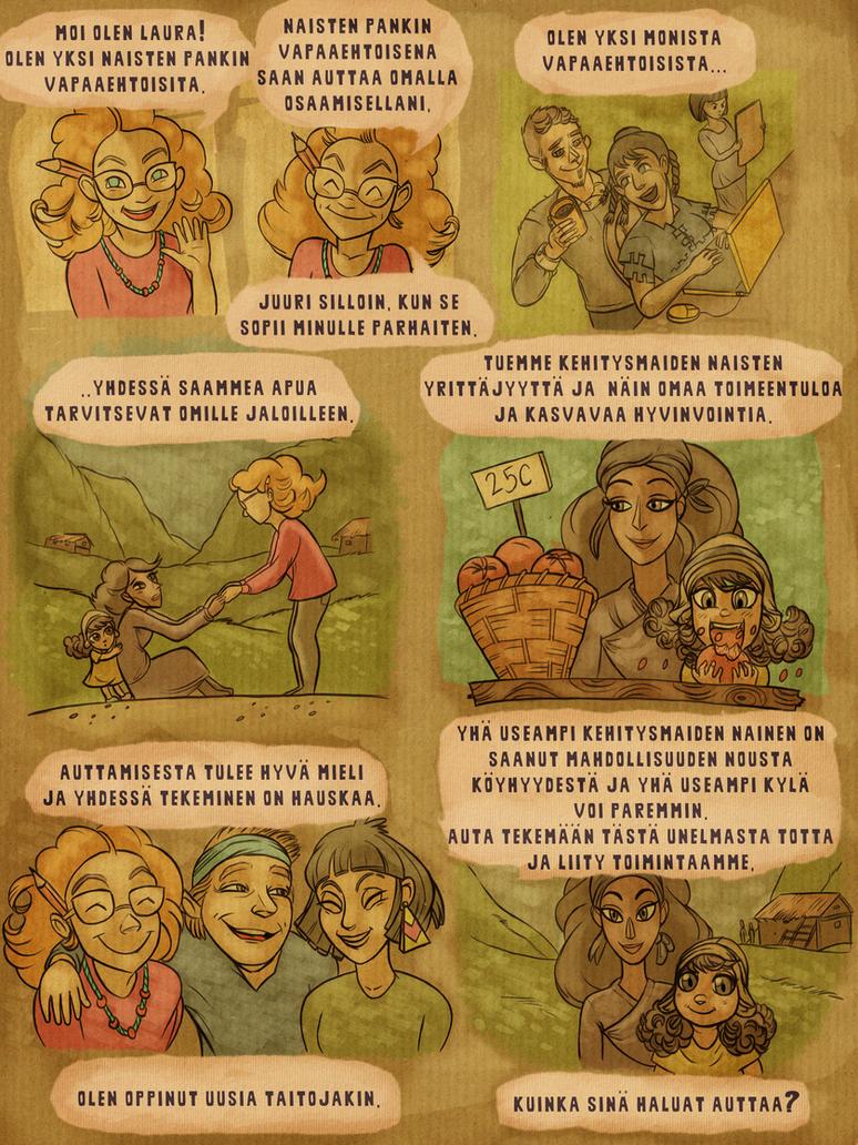 Finnish human rights comic by vastarantakettu