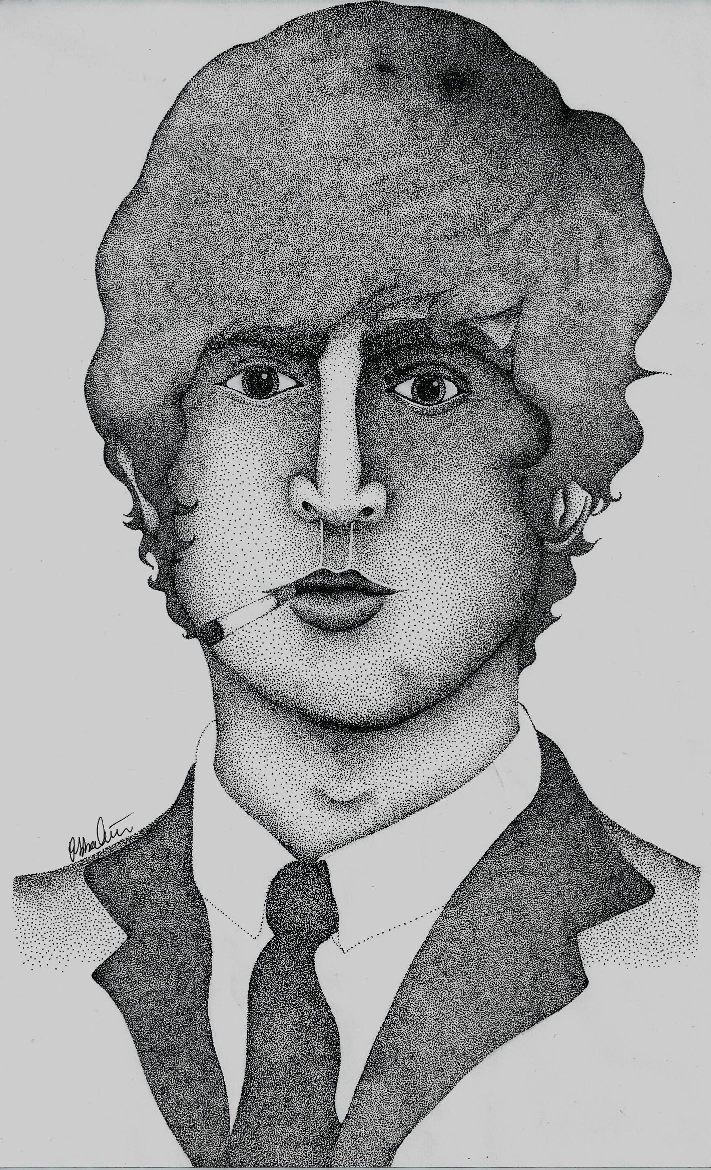 John Lennon Pointilism by EbbaOzolins