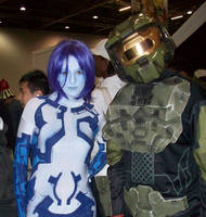 Cortana and the Chief by stacey-shikon-uk