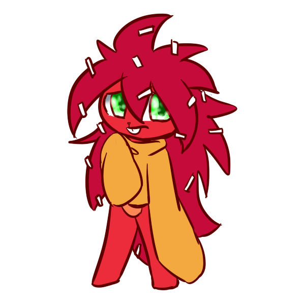 HTF : Flaky the Red Porcupine! (Or Hedgehog) by Reyna174