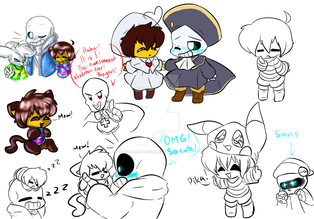UnderTale Doodles Or Sketches Or Something By LittleMoon