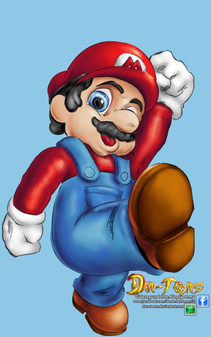 Super Mario Bros by Dan-Toons