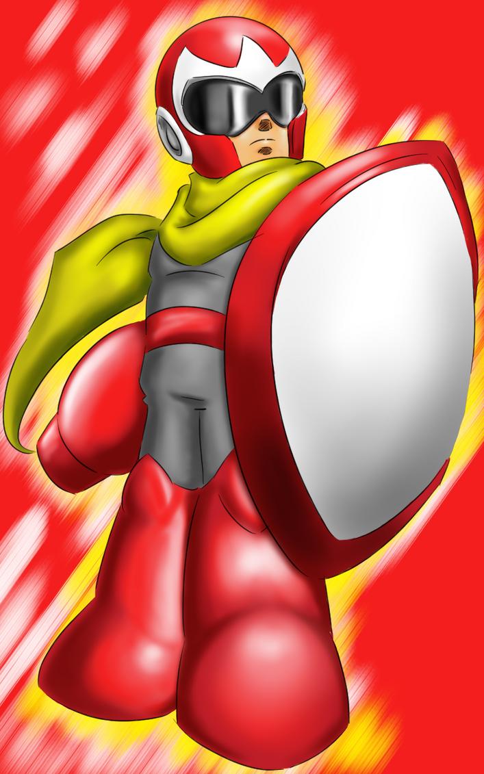 Proto Man full color by Dan-Toons